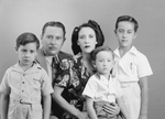 Angela Solano Gonzalez and Adrian Gonzalez and children: Guillermo, Ricardo, and Adrian, Jr.