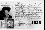 Gertrude Fitzgerald biographical material, Photo Passport, El Paso, Texas