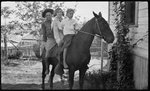 El Paso, Texas, Fitzgerald children on horseback