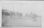 U.S. Soldiers playing volleyball