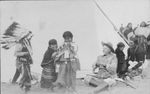 Buffalo Bill Cody with Indian children