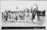 Comanche Indians in ceremony