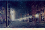 Night scene of street lights in downtown El Paso.