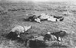 Dead Revolutionists on the battlefield at Cerro Prieto, Chihuahua